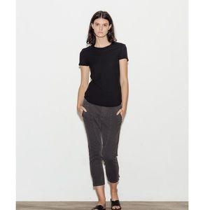 James Perse Women's Sheer Slub Cotton Crew T-Shirt